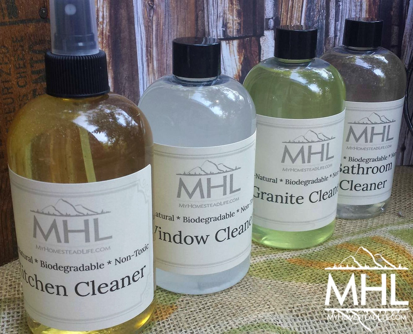 All Natural, Non-Toxic Household Cleaners Gift Pack by My Homestead Life